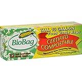 Biobag 13 Gallon Biodegradable/Compostable Trash Bags - 12 Ct