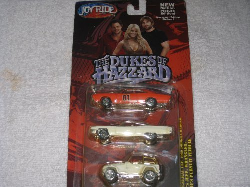 Dukes of Hazzard 3 pack -- General Lee, Daisy Jeep, Roscoe's Pursuit Vehicle -