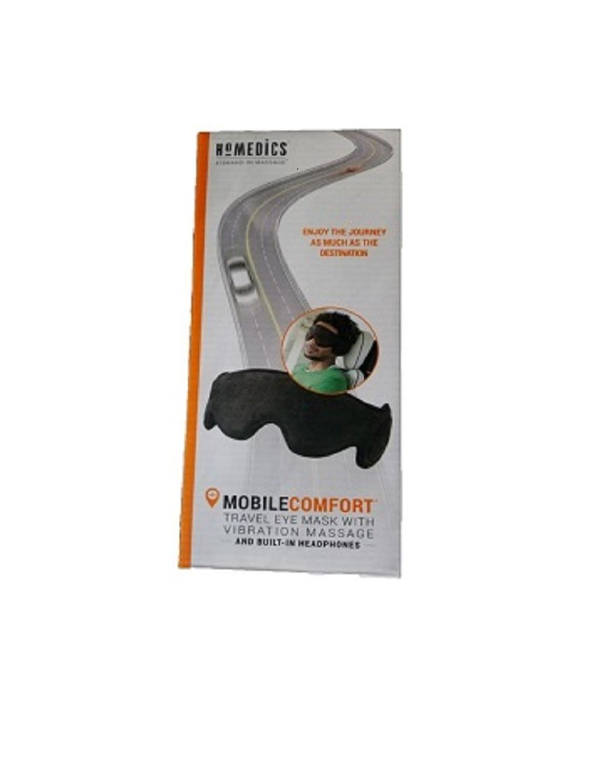 Homedics Travel Eye Mask With Vibration Massage and Built-in Headphones by Homedics, LLC (Image #1)