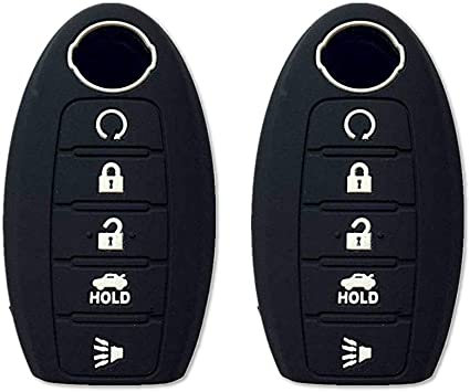 Silicone Key Cover Case Fit For Nissan Pathfinder Murano Remote Fob Protector