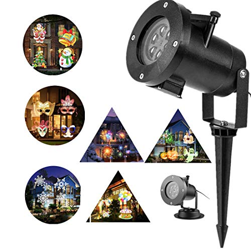 Christmas Projector Lights Outdoor 16 Patterns Slide Replaceable