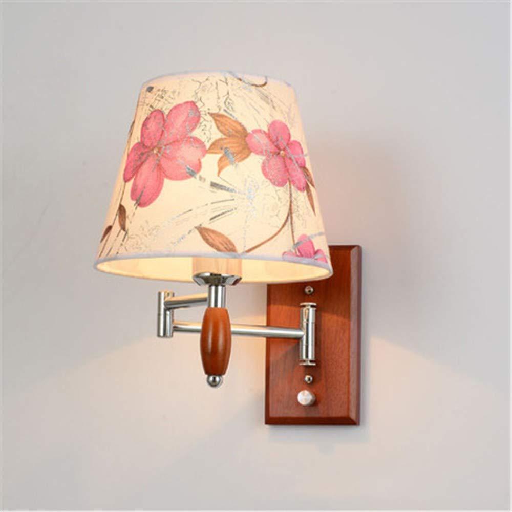 NIGHT WALL Iron Art Hotel Nachttisch Wandlampe Holzmöbel Schaffell Abdeckung spezielle Wandleuchte