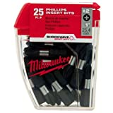 Milwaukee 48-32-4604 Shockwave No.2 Phillips Tic-Tac, 25-Piece