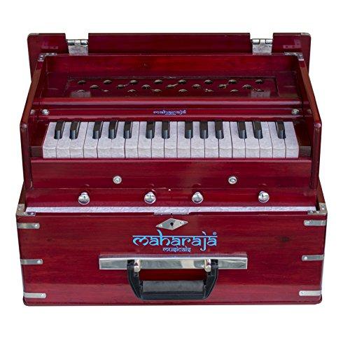 Maharaja Musicals, Kirtan Harmonium, Portable In-Flight Edition, Rosewood Color, Model KH3 by Maharaja Musicals