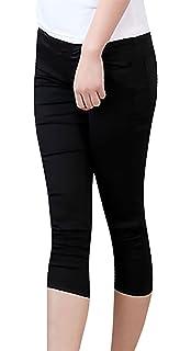 d6489f5179749 MTRNTY Women's Maternity High Elastic Waist Stylish Capris Tight Skinny  Pants