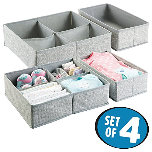 mDesign Fabric Nursery Organizer Clothes