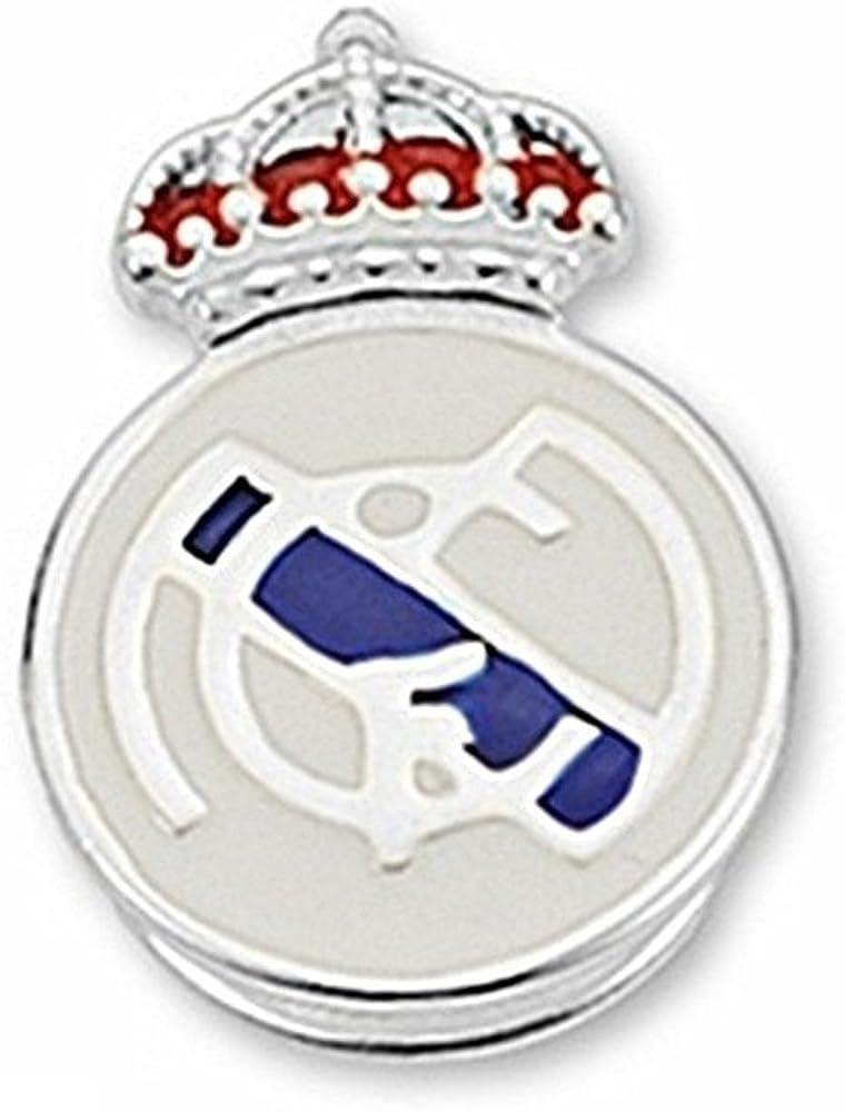 Pin escudo Real Madrid Plata de ley esmaltado [6827] - Modelo: 30-061-C: Amazon.es: Joyería