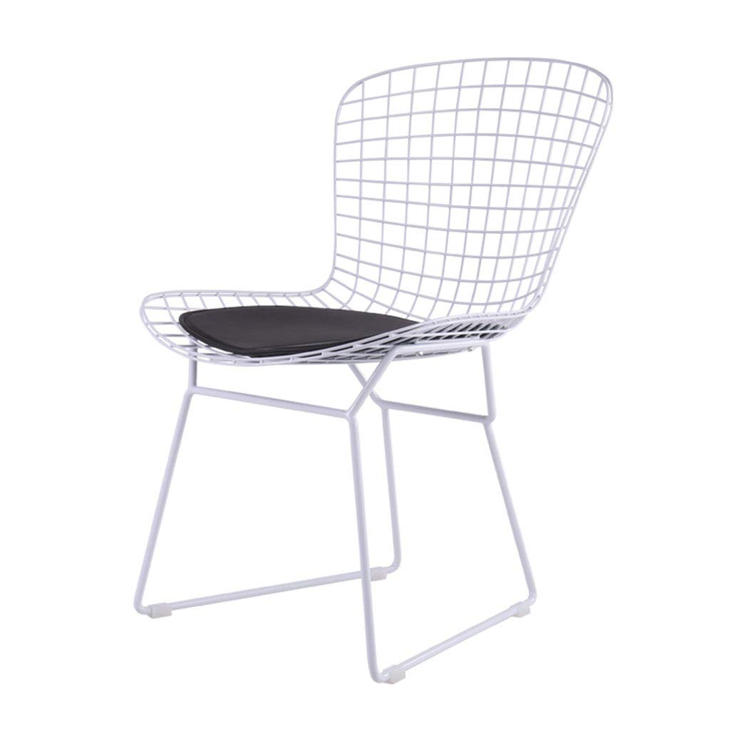Amazon.com - JYKOO Modern Iron Dining Chair, Hollow Chair ...