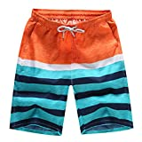 Aszune Printed Man's Swim Trunks, Quick Dry Beach Shorts for Summer