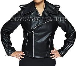 Women S Stylish Black Leather Jacket Worn By Victoria Beckham