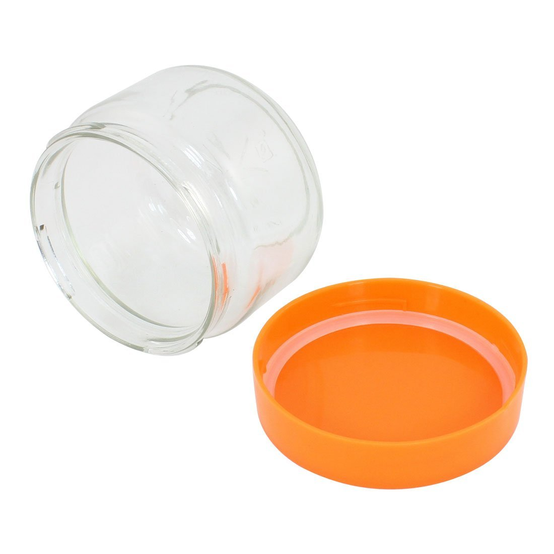 Amazon.com: Botella de plástico eDealMax cubierta del cristal de la hoja de té sello tarro del caramelo de almacenamiento frasco 450ml: Kitchen & Dining