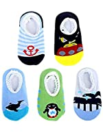 Blulu 5 Pairs Baby Socks Anti Slip Skid Socks for 8 - 36 Months Infants and Toddlers