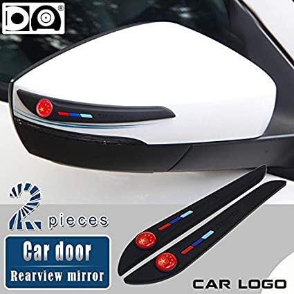 Styling Mouldings Car Door Rearview Mirror Anti-Collision Strip Black//White for Honda Accord Pilot Jazz Civic Hrv CRV Fit Odyssey Jade CRZ Insight Color: Black