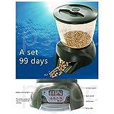 Aoile Automatic Pond Fish/Turtle Feeder Vacation&Weekend Fish Food Dispenser Digital Aquarium Timer Feeder
