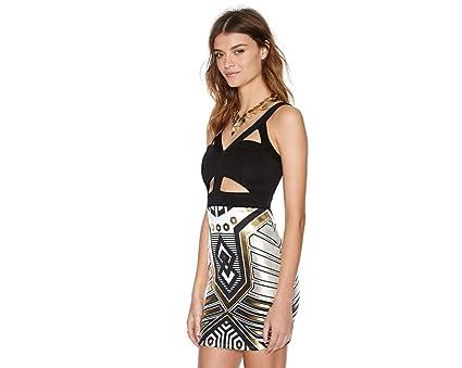 Vestidos de Fiesta de Noche Elegantes De Mujer Casuales Cortos Pegados Al Cuerpo VE0032 at Amazon Womens Clothing store: