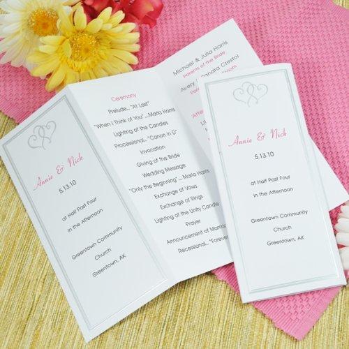 (Cathy's Concepts Platinum Hearts Tri Fold Program Paper in White)