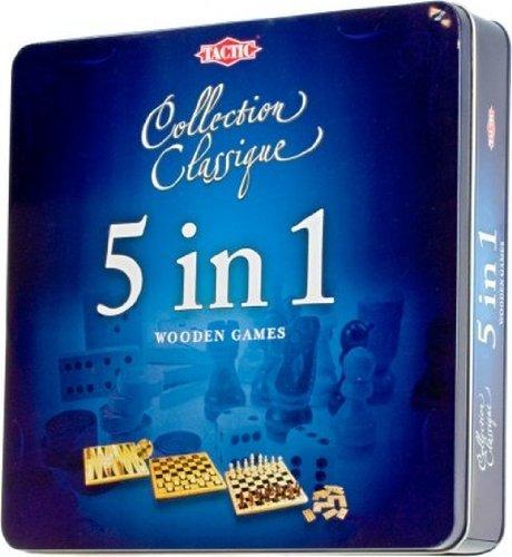 Tactic - 14006 - Jeu Classique - Coffret Métal 5 Jeux En 1