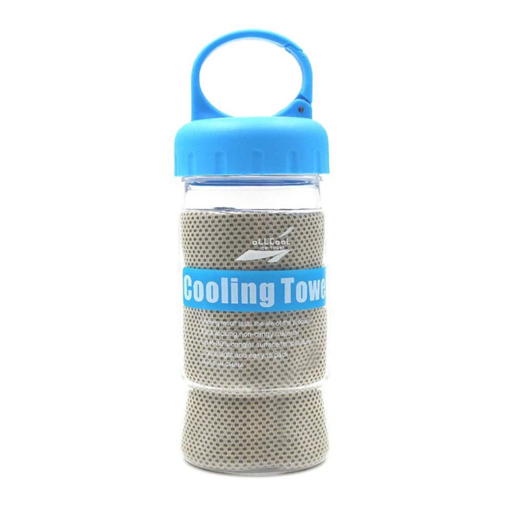 schnell k/ühlend WANGLAI Sport-Handtuch aus Seide schnelltrocknend mit Flasche f/ür Outdoor-Fitness/übungen Mikrofaser-Gewebe