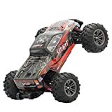 RC Cars for Kids/Adults Fast, Q901 Brushless 2.4G 1:16 4WD 52km/h High-Speed Off-Road Monster Truck RC Car RTR (Red)