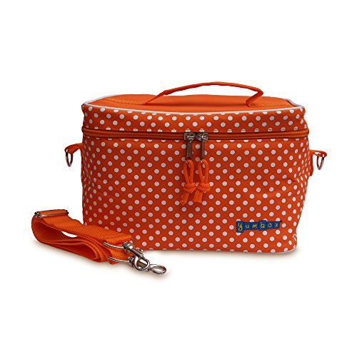 Yumbox Large Insulated Lunchbox Cooler Bag (Tango Orange with White Polka - Yumbox Bag Box Lunch