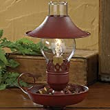 country kitchen table lamps Park Designs Red Chamberstick Lamp with Shade