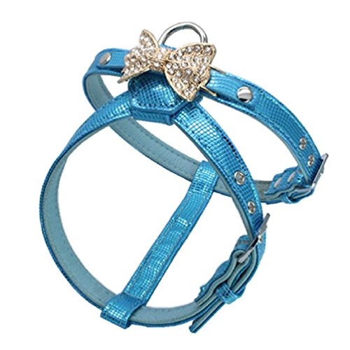 Inteeon Pet Series Dog Collar Fashion Bright golden butterfly Rhinestone snake Pet traction Harness by Inteeon Pet Series