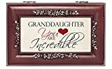 Incredible Granddaughter Rosewood Finish Jewelry Music Box - Plays You are My Sunshine