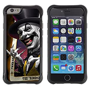 Lady Case@ Joker Card Poker Scary Top Hat Laugh Rugged Hybrid Armor Slim Protection Case Cover Shell For iPhone 6 Plus CASE Cover ,iphone 6 5.5 case,iPhone 6 Plus cover ,Cases for iPhone 6 Plus 5.5