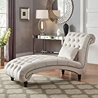 Deals on Knightsbridge Tufted Oversized Chaise Lounge by iNSPIRE Q Artisan
