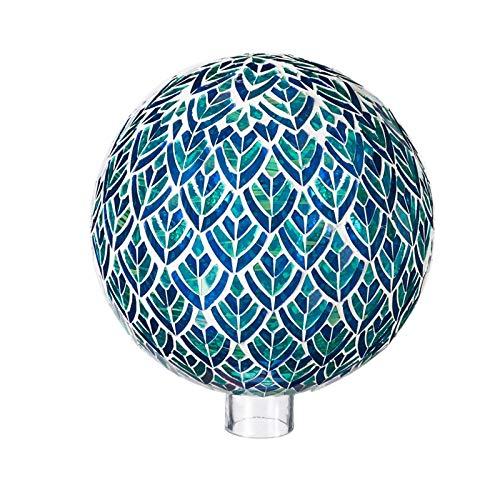 Evergreen Garden Blue and Green Mosaic Peacock 10 inch Glass Gazing Ball