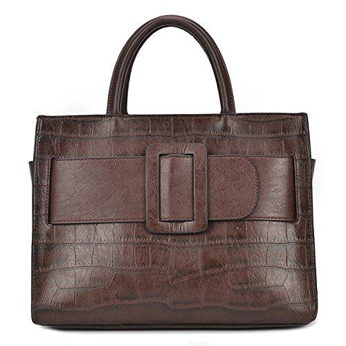 à Femmes De De Darkred Main Messenger Sac Bag à PU Des Main Crocodile Zipper Sac DHFUD v4p0x