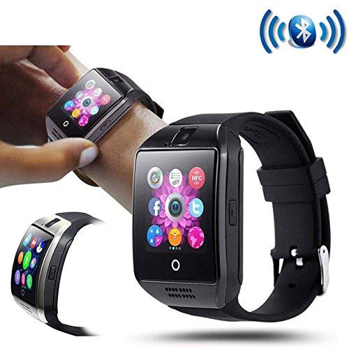 Inteligentes Smartphone iOS Android Q18 reloj teléfono móvil Bluetooth SIM Card SD Mic: Amazon.es: Relojes