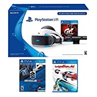 PlayStation VR Racing Complete Bundle (5 Items): PlayStation VR Headset, PSVR Camera, PSVR Gran Turismo Bundle Game, PSVR Wipeout Omega Collection Game and PSVR Driveclub Game