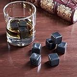 Lily's Home Whiskey Stones, Polished Black Whiskey Rocks Set Of 9