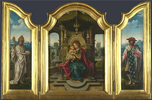 Oil Painting 'the Workshop Of Pieter Coecke Van Aalst The Virgin And Child Enthroned (1)' 10 x 15 inch / 25 x 38 cm , on High Definition HD canvas - Discount Sunglasses Coupon Shop