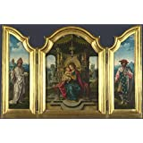 Canvas Prints Of Oil Painting ' the Workshop Of Pieter Coecke Van Aalst The Virgin And Child Enthroned (1)' 12 x 18 inch / 30 x 46 cm , Polyster Canvas, Foyer, Home Office And Living Room Decoration