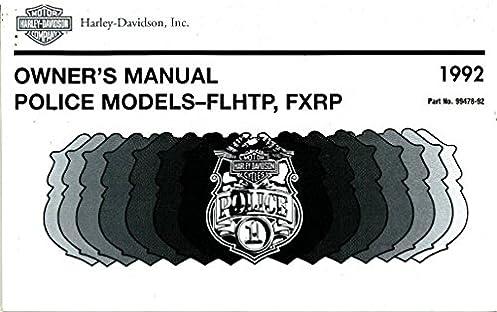 harley davidson flhtp owner manual books user manual guide u2022 rh ujewelry co Die Cast Harley-Davidson Motorcycles 1992 Harley-Davidson FLHTP