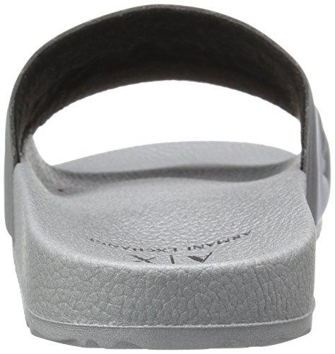 En | X Armani Exchange Mænds Letvægts Tøffel Gummi Slide Sandal Sølv 9vXwY0nST4