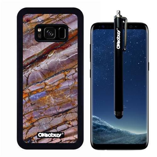 Galaxy S8 Case, Crimson Fault Twill Marble Texture Case, OkSoBuy Ultra Thin Soft Silicone Case for Samsung Galaxy S8 - Crimson Fault Twill Marble Texture - Sri Lanka Coral