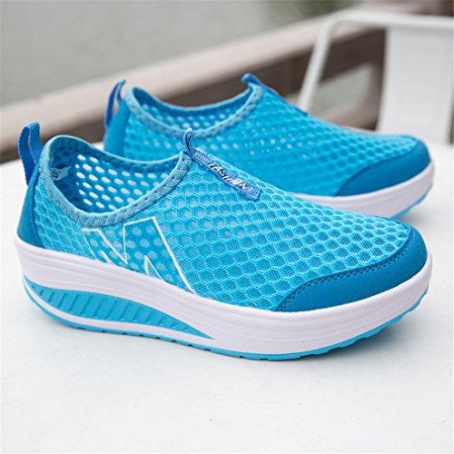 Scarpe Da Donna Annabelz Slip On Slip Scarpa Fitness Scarpe Da Ginnastica Allenarsi Sneaker Blu