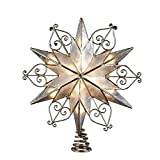 Kurt Adler 10-Light 6-Point Capiz Star Treetop with Scroll Design (Small Image)