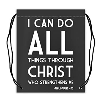 Bible Verse QuotI Can Do All Things Through Christ Who Strengthens Mequot Philippians