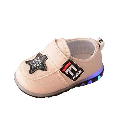 c482e26edb281 ELECTRI Chaussures Mode Bébé Garçon Fille Sneakers LED Lumineuse Unisex  Enfants Chaussures de Sport Chaussures De