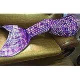 Danti Super Soft Cute Fleece Interior Mermaid Tail Blanket apply on all seasons (S) for 3-10 Youth