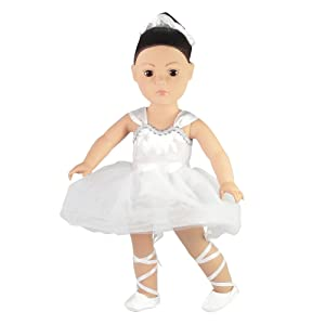 """Emily Rose Prima Ballerina/Ballet Outfit - 18 Inch Doll Clothes/Clothing Fits American Girl Dolls - Includes 18"""" Accessories"""