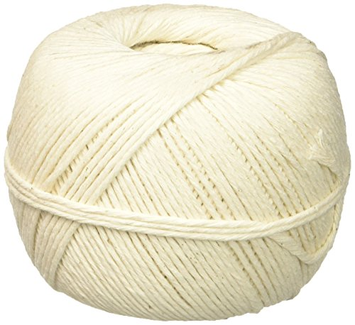 Quality Park White Cotton 10-Ply Medium String In Ball, 475 Feet (46171) (Thick String)