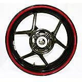 AFBA Thick Outer Rim Liner Stripe for Suzuki Yamaha Kawasaki Ducati Aprilia Honda Gloss Red