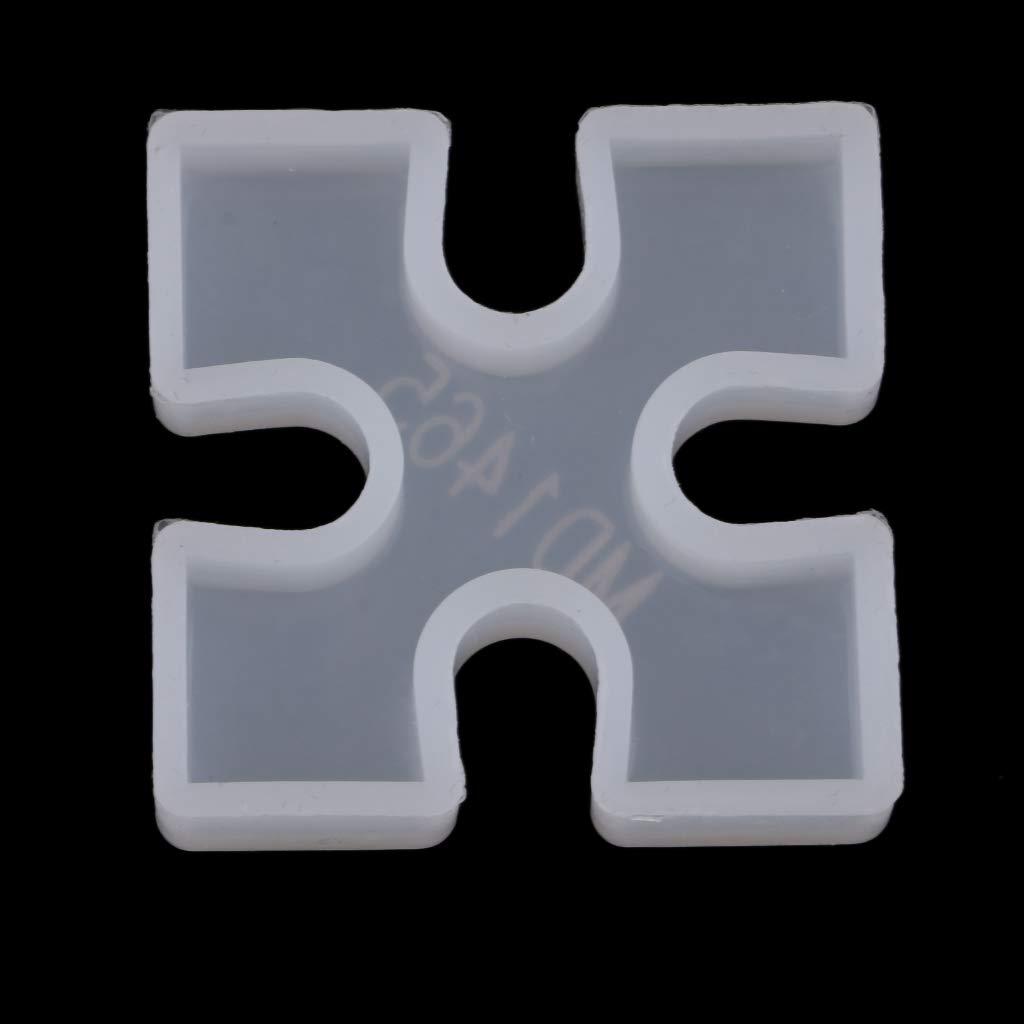 B Baosity Molde de Silicona de Puzzle de Posavasos para Hacer Velas, Jabón etc - A: Amazon.es: Hogar