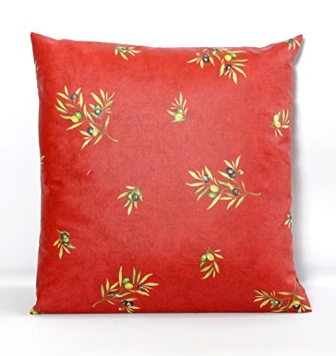 Water Resistant Pillow Cover Olives Bouquet in Red - Indoor and Outdoor Use - Please choose the Size - Provence Pillow Covers -
