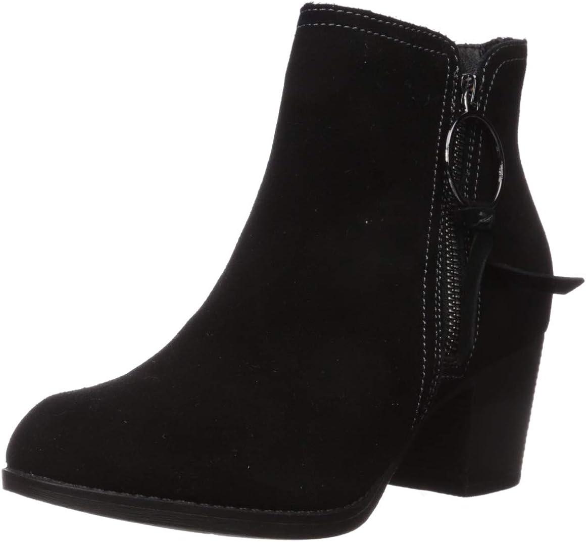 Skechers Women's Taxi-Single Ladies-Wearable Comfort Short Zipper Ankle Boot